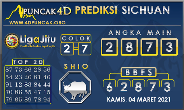 PREDIKSI TOGEL SICHUAN PUNCAK4D 04 MARET 2021