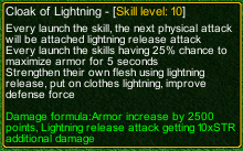 naruto castle defense 6.0 Cloack of Lightning detail