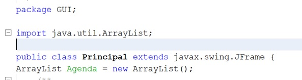 Definir ArrayList en Java