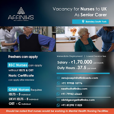Vacancy for Nurses to UK As Senior Carer - Apply Now