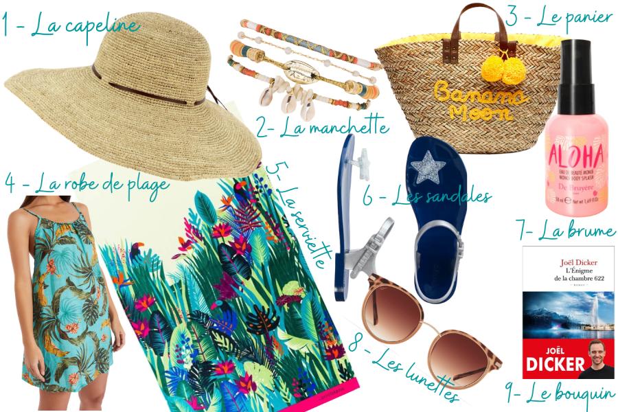 Sélection d'accessoires pour la plage