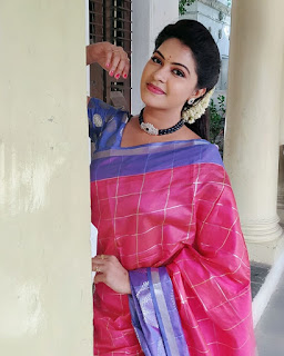 Rachitha Dinesh Mahalakshmi Beautiful Saree Pics