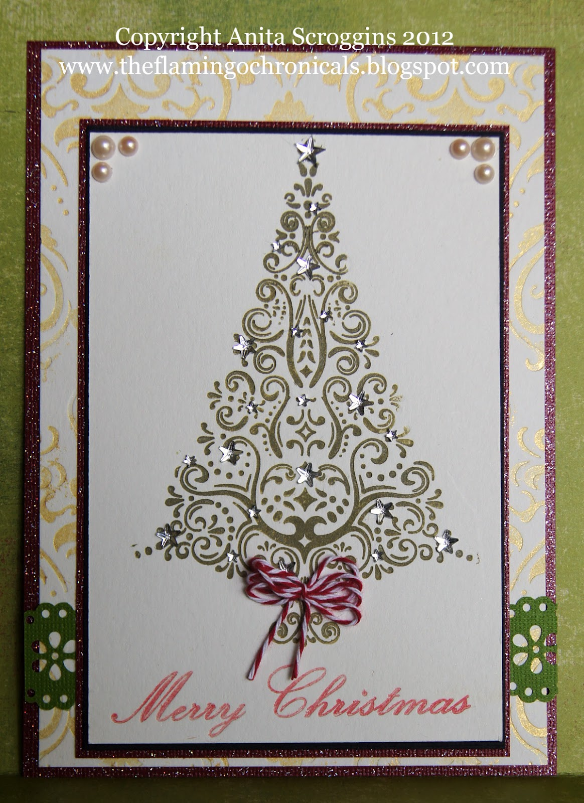 Embossed Christmas Tree Card | The Flamingo Chronicals: Embossed ...