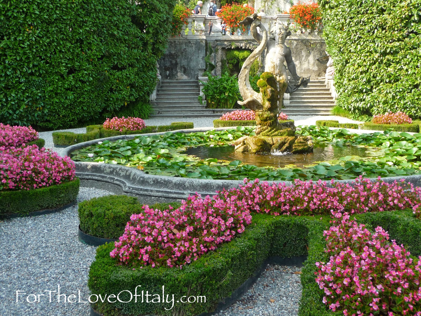 A Picture of the Garden of Villa Carlotta, Lake Como (Lombardy), Italy Lake Como, Italy © 2014 For The Love Of Italy