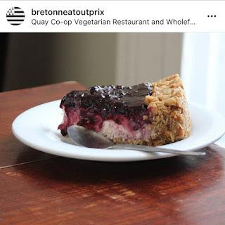Quay Coop Restaurant vegan cheesecake