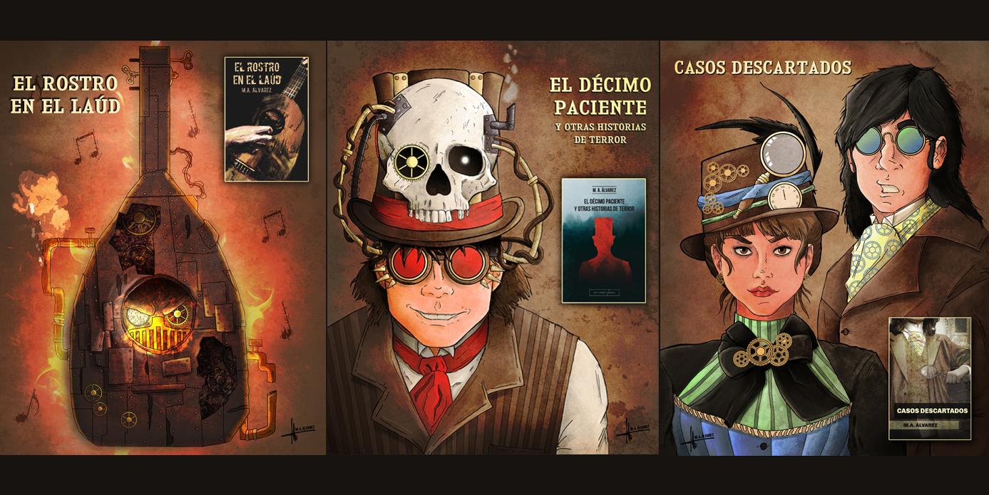 Personajes Steampunk M.A. Álvarez