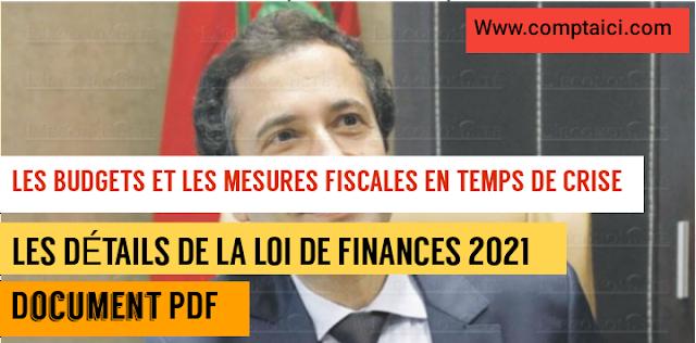DÉTAILS DE LOI DE FINANCE 2021