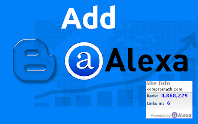 How to Add Alexa Rank Widget Easily in Blogger