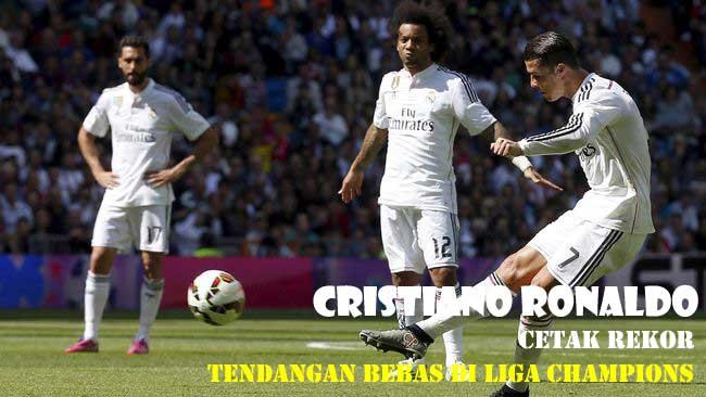 Cristiano Ronaldo Cetak Rekor Tendangan Bebas di Liga Champions