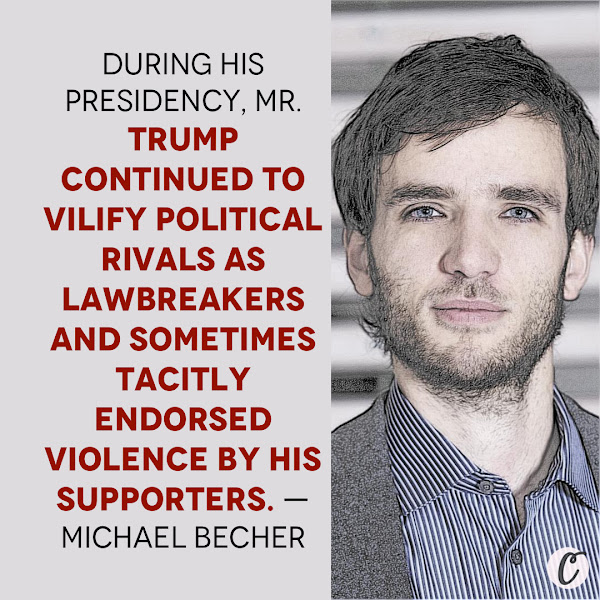 During his presidency, Mr. Trump continued to vilify political rivals as lawbreakers and sometimes tacitly endorsed violence by his supporters. — Michael Becher, assistant professor of political science at the IE School of Global and Public Affairs