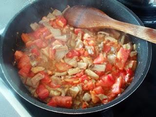 salsa a base de setas para los espaguetis