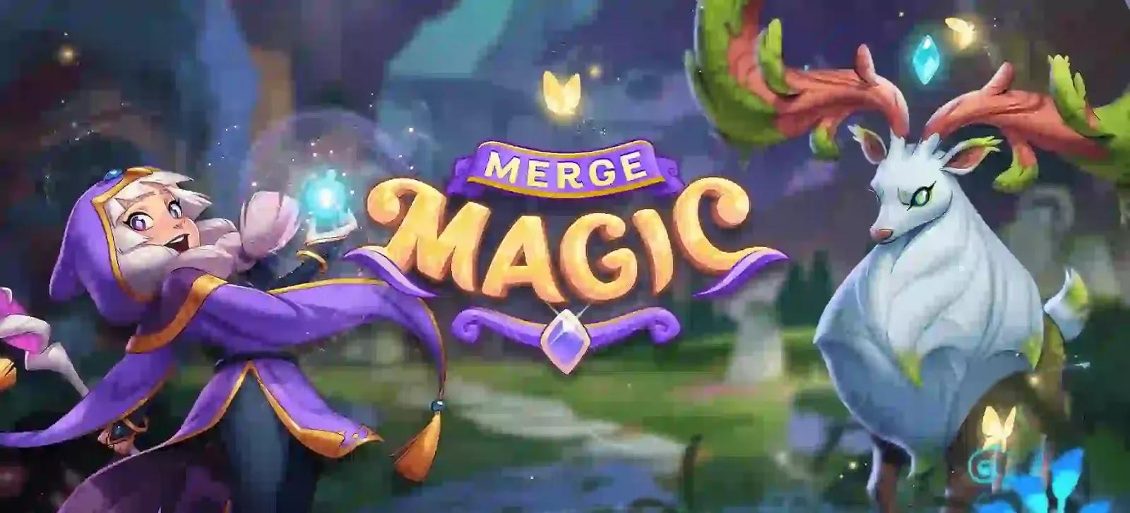 اكتشف الحكايات والمهام المسحورة في عالم Merge Magic الغامض! حيث يمكنك دمج كل شيء في عناصر أفضل وأكثر قوة لرحلتك.