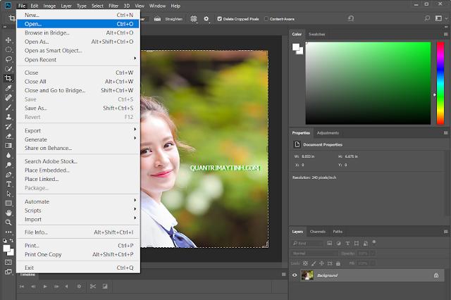 Cắt ảnh thành hình tròn bằng phần mềm Photoshop