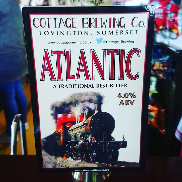 Somerset Craft Beer Review: Atlantic from Cottage Brewing Co real ale pump clip
