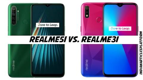 Realme5i Vs. Realme3i| जाने क्या कुछ है? नया इस नए अपग्रेड में।