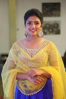 Actress Eesha in Yellow Choli Blue Ghagra at Darshakudu music launch 028.JPG