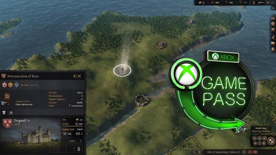 xbox game pass 2020 crusader kings 3 paradox interactive xb1