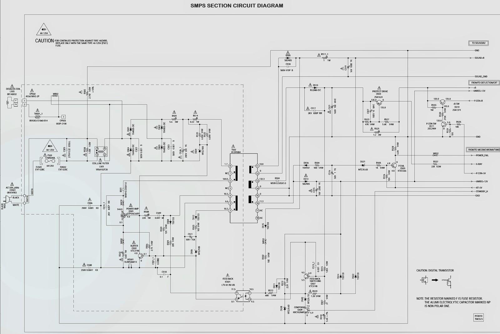 Electro help: PANASONIC CT-Z1423 _ CIRCUIT DIAGRAM