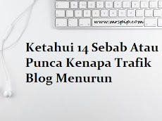 Ketahui 14 Sebab Atau Punca Kenapa Trafik Blog Menurun