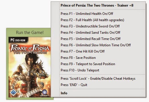 Prince of persia game trainers: 2017.