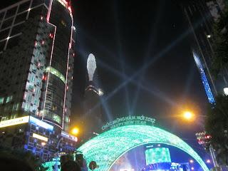 Fiestas de Nochevieja en Ho Chi Minh City (Vietnam)
