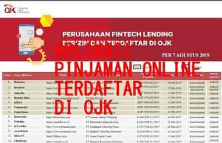 Daftar Aplikasi Pinjaman Online Yang Terdaftar Di Ojk Per 7