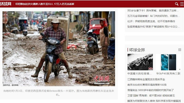 Media Massa Tiongkok Lebih Tertarik Beritakan Banjir Jakarta daripada Isu Natuna
