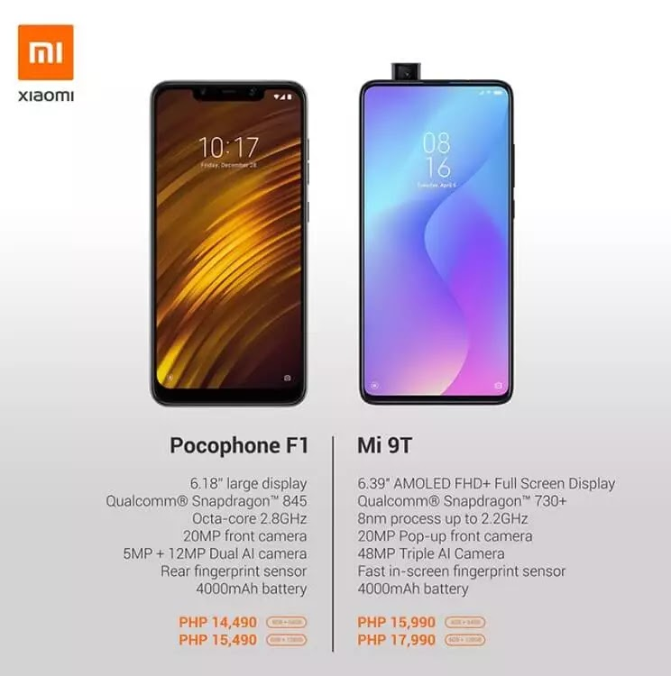 Mi Store Philippines Bids Goodbye to Pocophone F1, Recommends Mi 9T Instead