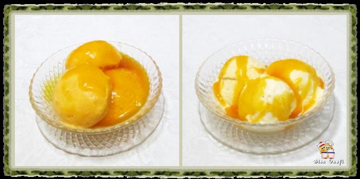 Frozen iogurte e sorvete cremoso de manga 1