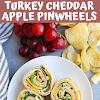 Turkey Cheddar Apple Pinwheels