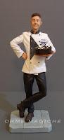 statuina personalizzata pasticcere idea regalo artigianale collega cuoco orme magiche
