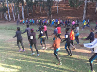 Ethiopian-group-training-for-the-Great Ethiopian-Run