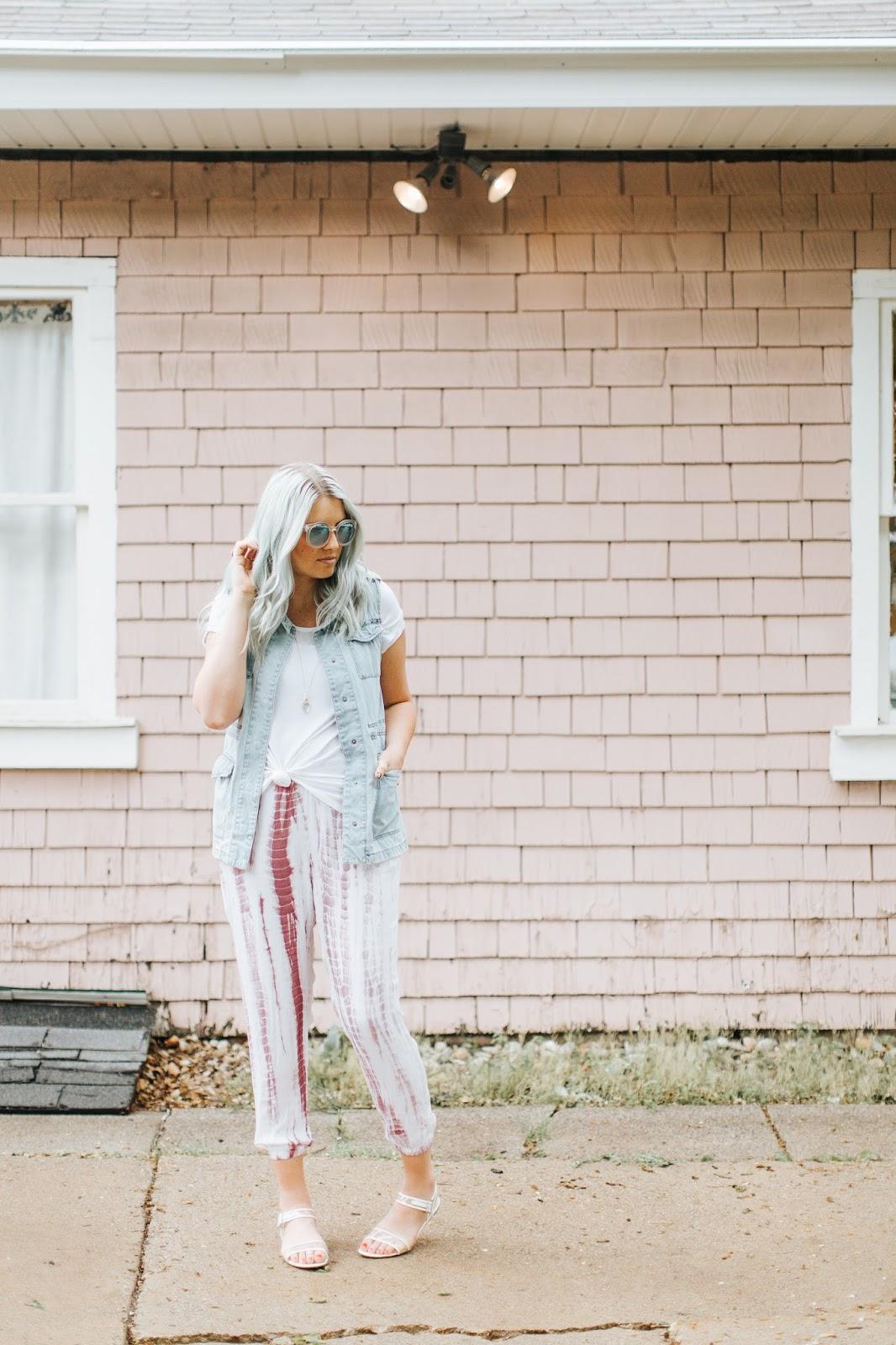 Harper Trends, Tie Dye, Denim Vest
