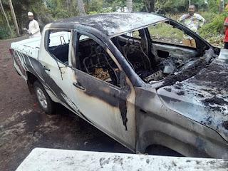 La voiture du Maire de Bambao ya Mboini incendiée