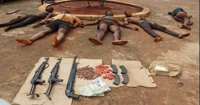 Five armed robbery suspects killed by superior firepower of the SARS operatives