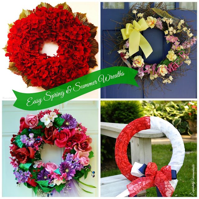 Easy Spring And Summer Wreaths DIY