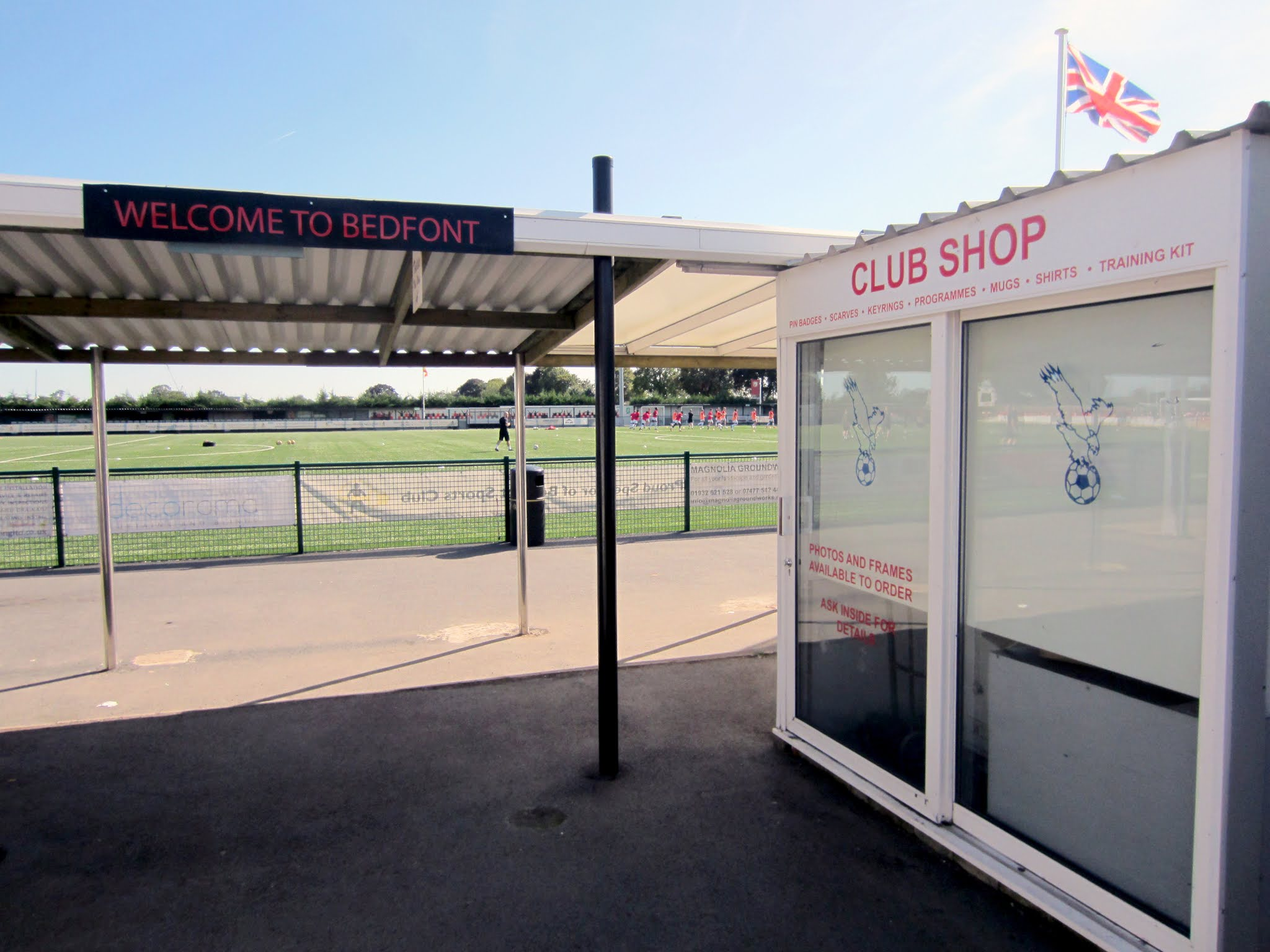 Welcome to Bedfont sign and club shop