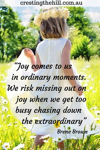 Joy comes to us in the ordinary moments. Brene Brown #quotes