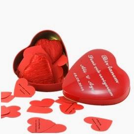 Kalp Kutu İçinde 100 Dilde Seni Seviyorum Çikolataları