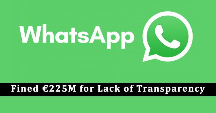 WhatsApp Fined €225M
