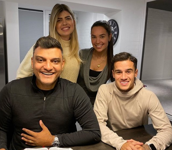 Brazilian Football Star, Philippe Coutinho Becomes Born Again, Baptised In His Home