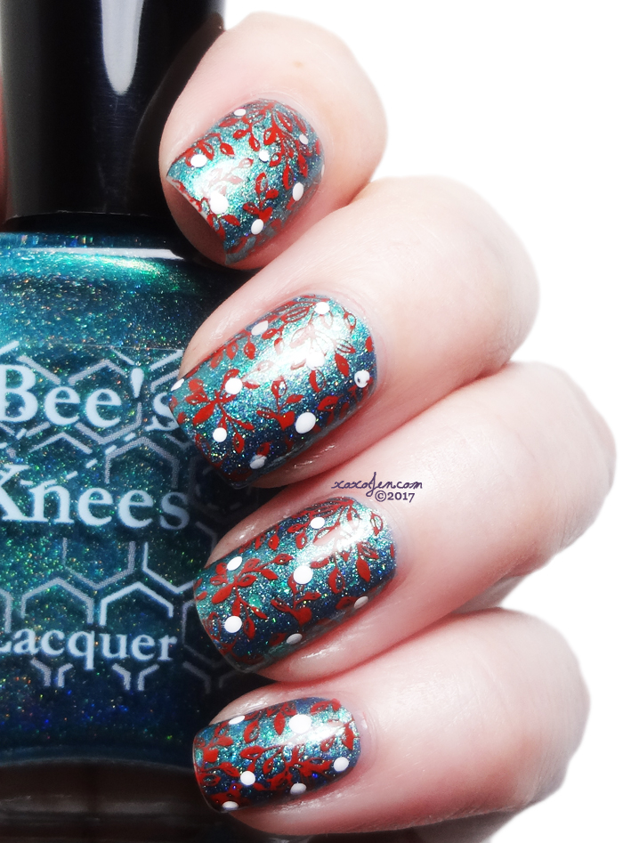 xoxoJen's swatch of Bee's Knees: Salty Anon stamped