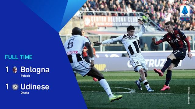 الدوري الإيطالي: بولونيا يخطف تعادلاً بطعم الفوز في الدقائق الاخيرة أمام أودينيزي