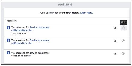 Delete Facebook History