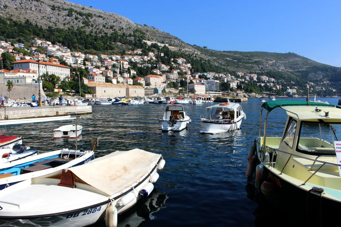 Dubrovnik, Kroatia, Dubrovnikin satama, syysloma, Rouva Sana