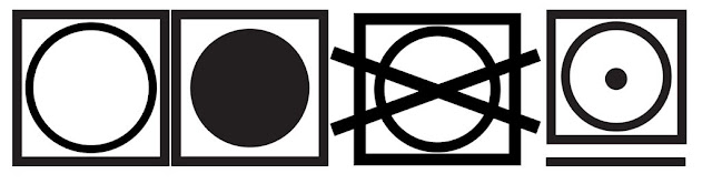 significado Símbolos de secado