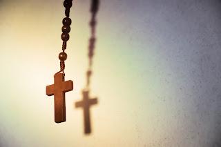 Het christelijk kruis als religieus symbool.