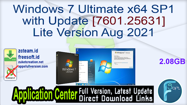 Windows 7 Ultimate x64 SP1 with Update [7601.25631] Lite Version Aug 2021