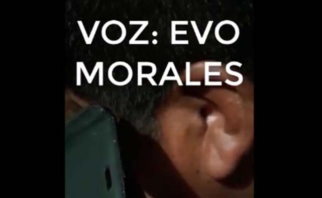 Envían audio que implica a Morales y Yucra a Colombia para verificar la fidelidad de las voces