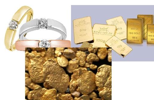 macam macam emas, jenis jenis emas